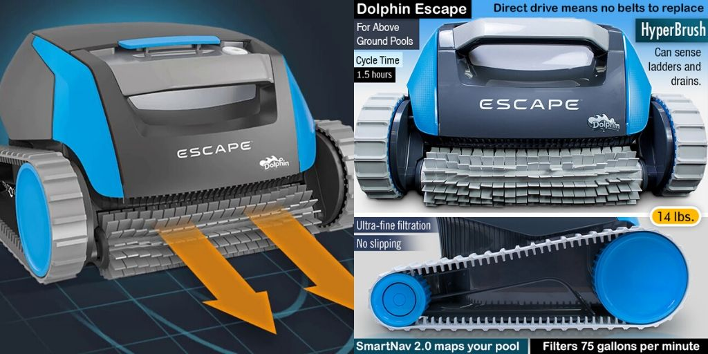dolphin escape pool cleaner